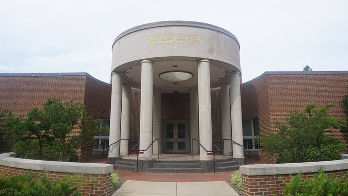 The Van Hecke-Wettach Hall hosts UNC's School of Law.