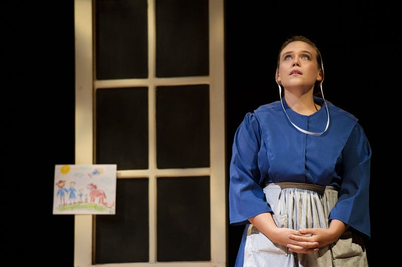 "Kathryn Metzger performing in ""The Amish Project."" Photo courtesy of David Munch."