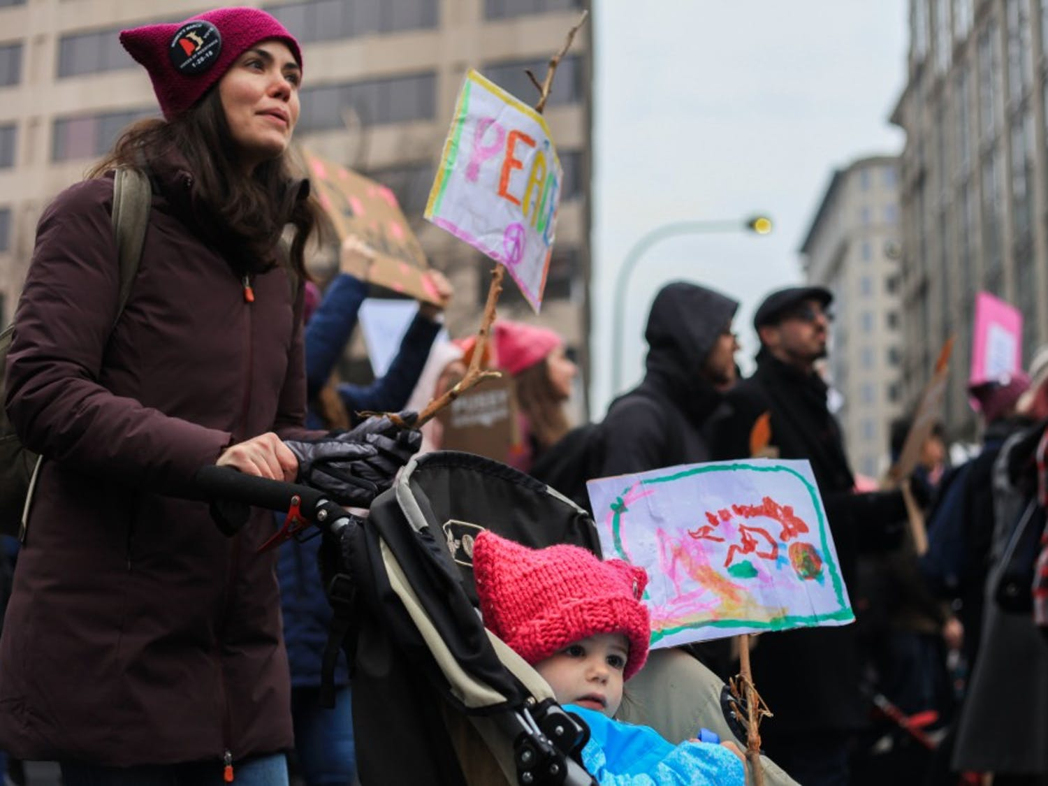 Thousands march on Washington, D.C., as part of the third annual Women's March on Saturday, Jan. 19, 2019.