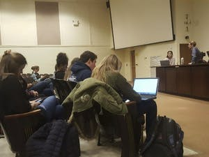 A meeting was held in Carroll Hall on Monday for students to announce their intent to run for Student Body President.
