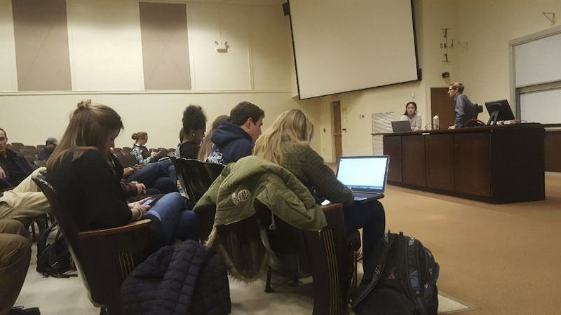 A meeting was held in Carroll Hall on Mondayfor students to announce their intent to run for Student Body President.
