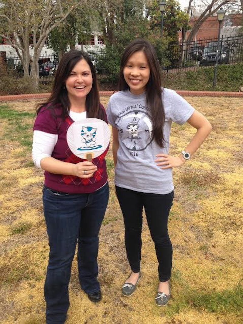 """Kerry O'Sullivan and Thao Nghi Bui are big """"fans"""" of the Sakaiger."""