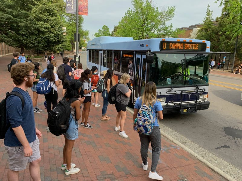 The South Rd bus stop across from the Carolina Student Union services multiltudes of students and Triangle residents everyday.