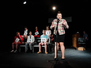 Junior Maria Cade plays Rona Lisa Peretti in UNC Pauper Players' production of The 25th Annual Putnam County Spelling Bee in Feb. 2020. Photo courtesy of Maria Cade.