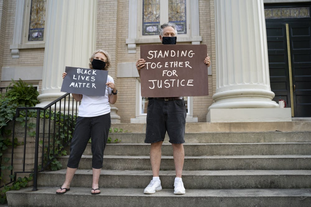 Local church continues to hold weekly Black Lives Matter vigils after banners burned
