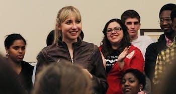Campus Y meeting with Landen Campbell
