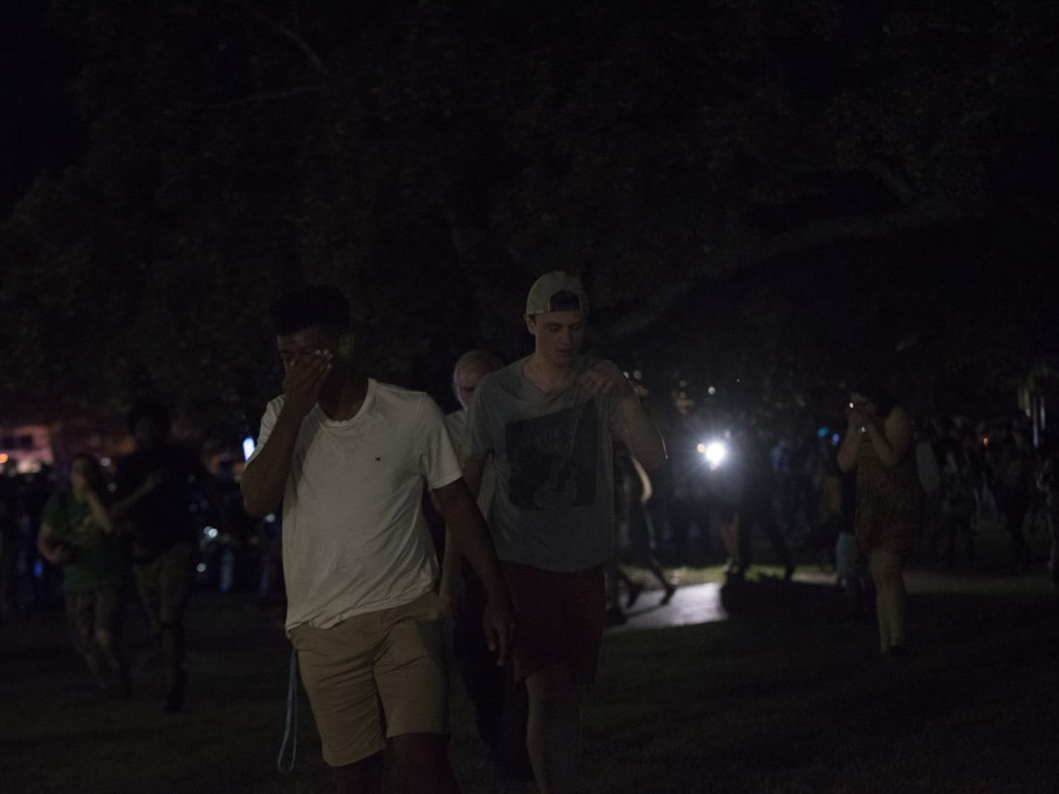 On Aug. 30, pro-Silent Sam demonstrators brought flowers and waved Confederate flags as part of a twilight service to commemorate the toppled statue. Directly beside this, those against the fallen monument held a dance party to celebrate. As twilight service goers left UNC's campus, police used a pepper fogger to disperse the crowd.