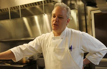 Chip Smith, who owns Bonne Soiree with his wife, Tina, talks about their restaurant while preparing for dinner on Saturday.