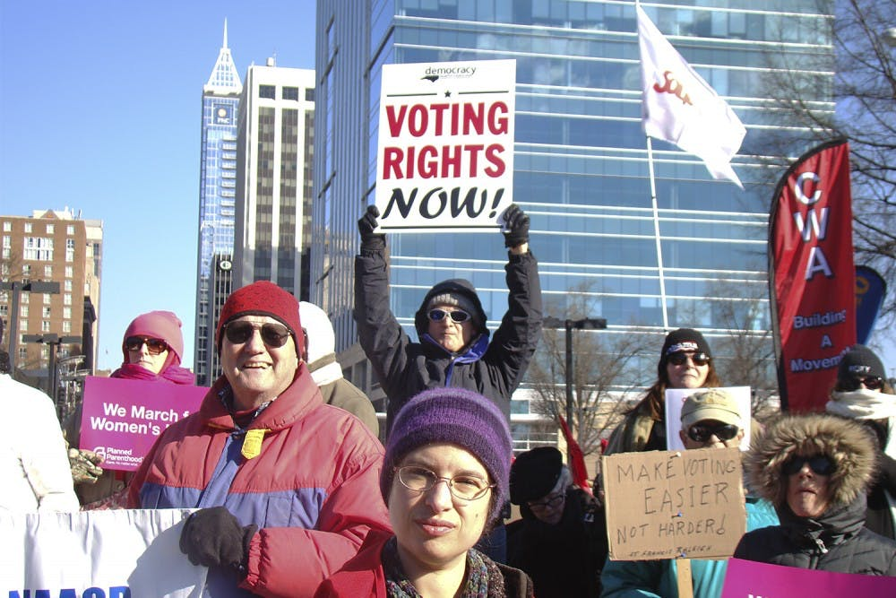 North Carolinians turn out for the vote at HKonJ
