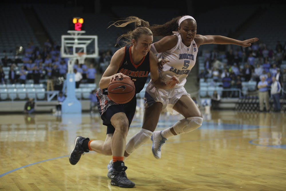 UNC women's basketball explodes late in 65-50 win over Bucknell behind Jamie Cherry's playmaking