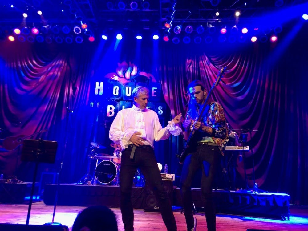 <p>Stardust to Ashes lead singer Steve Baker and son Duncan Baker perform at the House of Blues in Myrtle Beach on Oct. 19. Photo courtesy of Steve Baker.&nbsp;</p>
