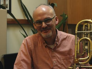 Professor Michael Kris talks about how he feels about being seen as a mentor to his students and the importance of mentorship in the arts on Monday, Feb. 19, 2019 at his office in the Kenan Music Building.