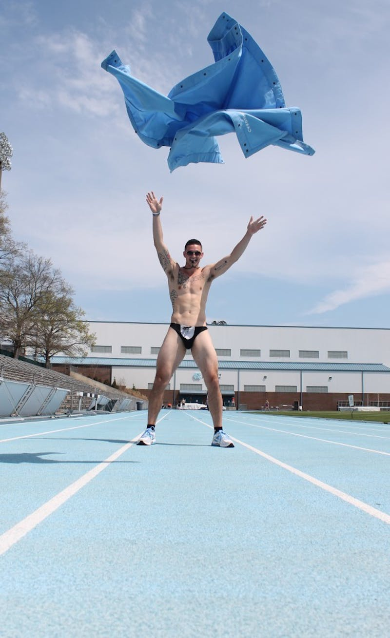 Dylan Moore stripped in a Biology 101 in a video that went viral. A former track athlete, he was asked to leave the team and faces Honor Court charges for the stunt.