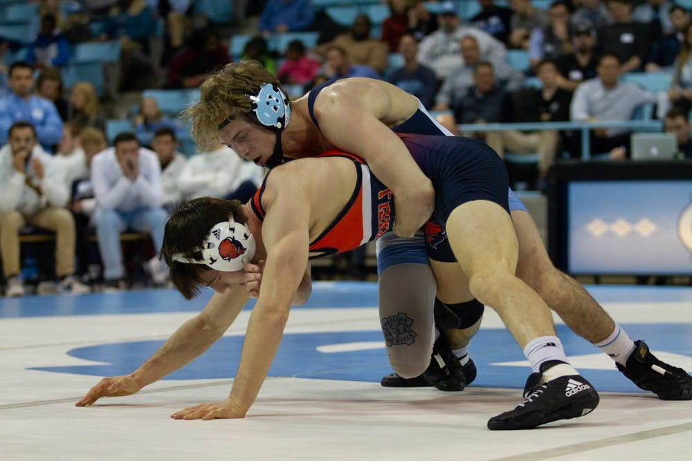 UNC wrestling working toward an ACC title after wins over Duke, Bucknell