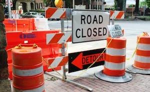 Cameron Ave. during road repairs. DTH/Rachel Hare
