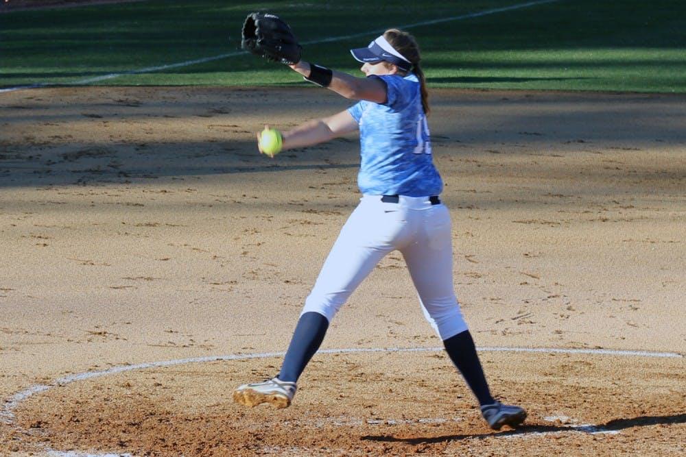 Kaylee Carlson tallies first career win in softball's home opener
