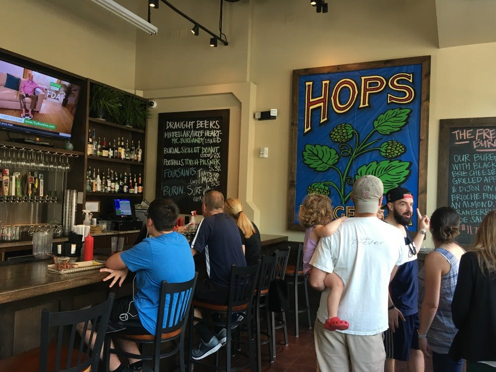 Review: Hops Burger Bar offers creative burger selection