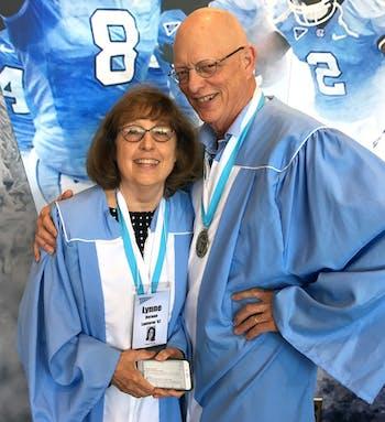 Jock Lauterer and Dr. Lynne Vernon-Feagans. Photo Courtesy of Jock Lauterer