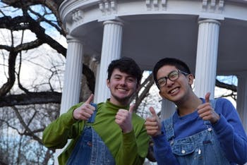Kipp Williams and Raymond Tu are running unopposed in their co-presidential campaign for the Campus Y. Photo taken by Ziola Kowzan and courtesy of Williams.