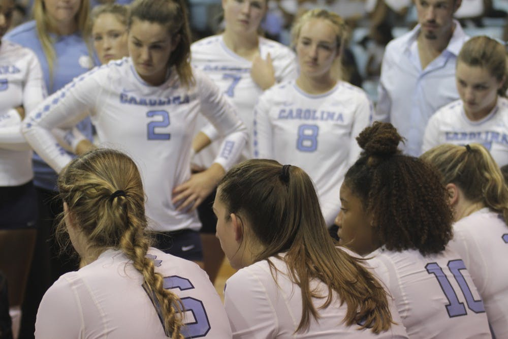 Volleyball falls twice to top-ten opponents in ACC-Big Ten Challenge