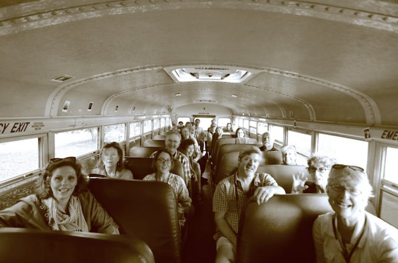 Click! Bus Tour is stopping at the FRANK Gallery in Chapel Hill on Oct. 3. Photo by Bryce Lankard.