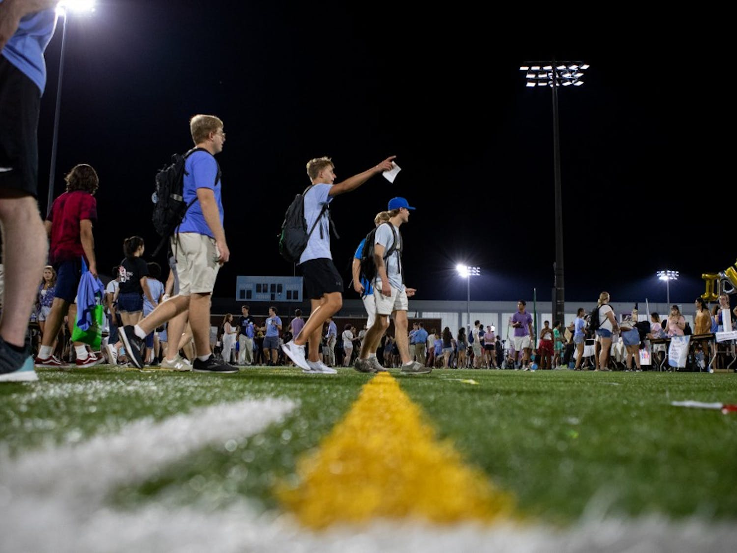 Thousands of UNC students gathered for Fallfest on Hooker Fields on the evening of Sunday, August 18 2019.