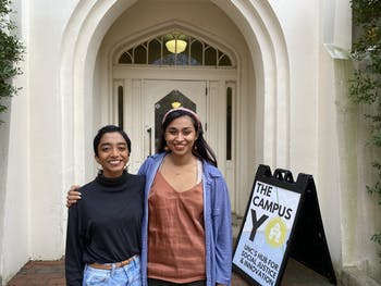 Veda Patil, a political science major, and Thilini Weerakkody, a human development and family studies major, are running for co-presidents of the Campus Y.