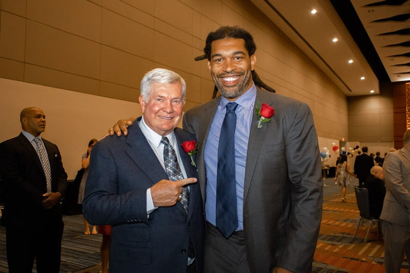 UNC football legends Mack Brown and Julius Peppers inducted into NC Sports Hall of Fame