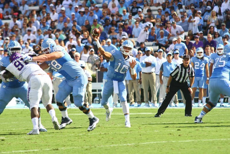 The Tar Heels defeated James Madison University 56-28 on Saturday in Kenan Stadium.