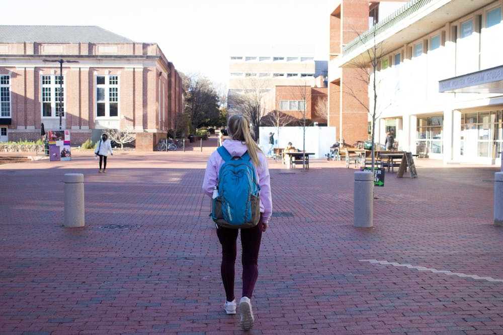 UNC Chapel Hill students returned to in person classes for the first time this spring semester on Feb. 8.