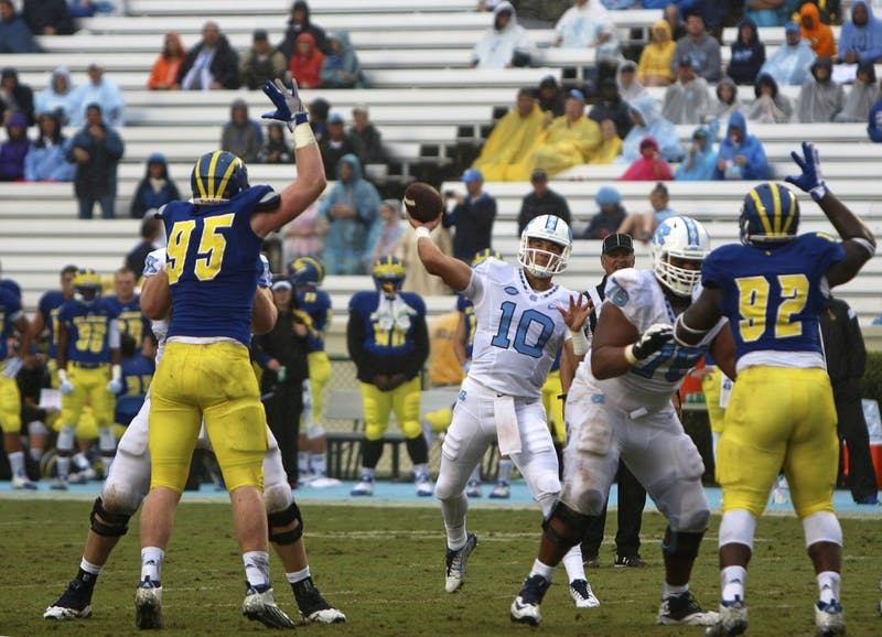 UNC football won against Delaware with a score of 41 to 14 on Saturday afternoon in Kenan Stadium.