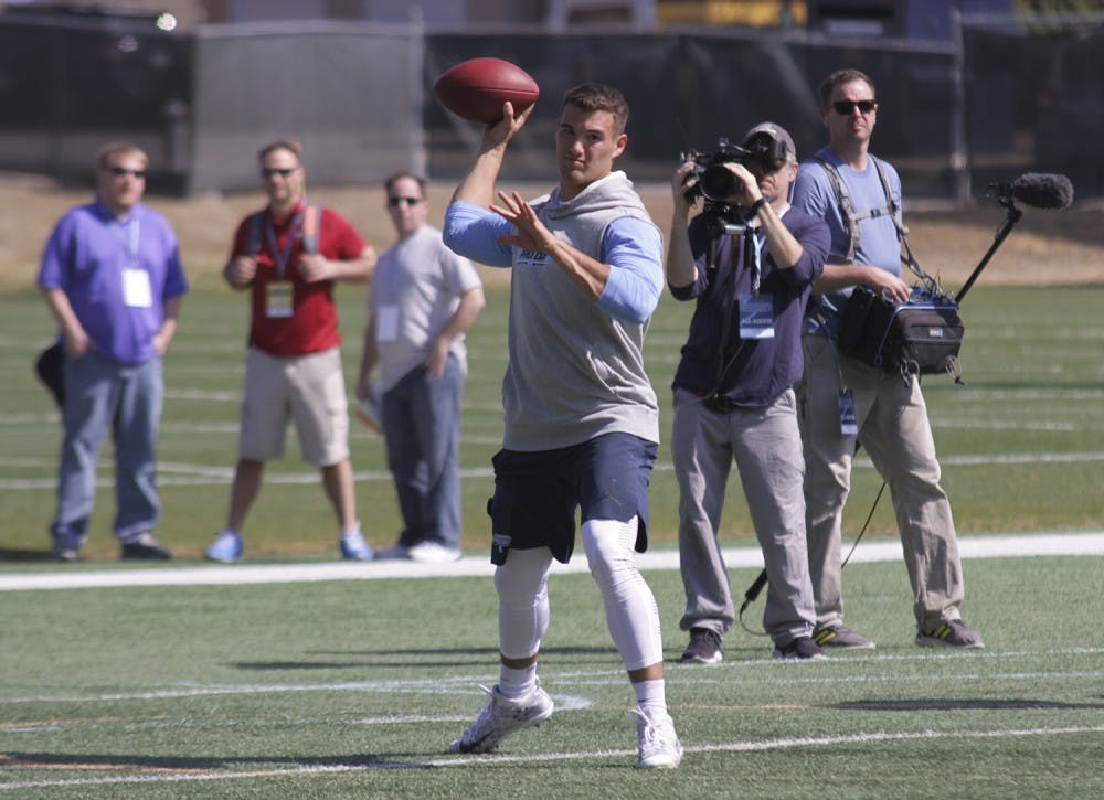 Trubisky transitions into spotlight at UNC football's pro day