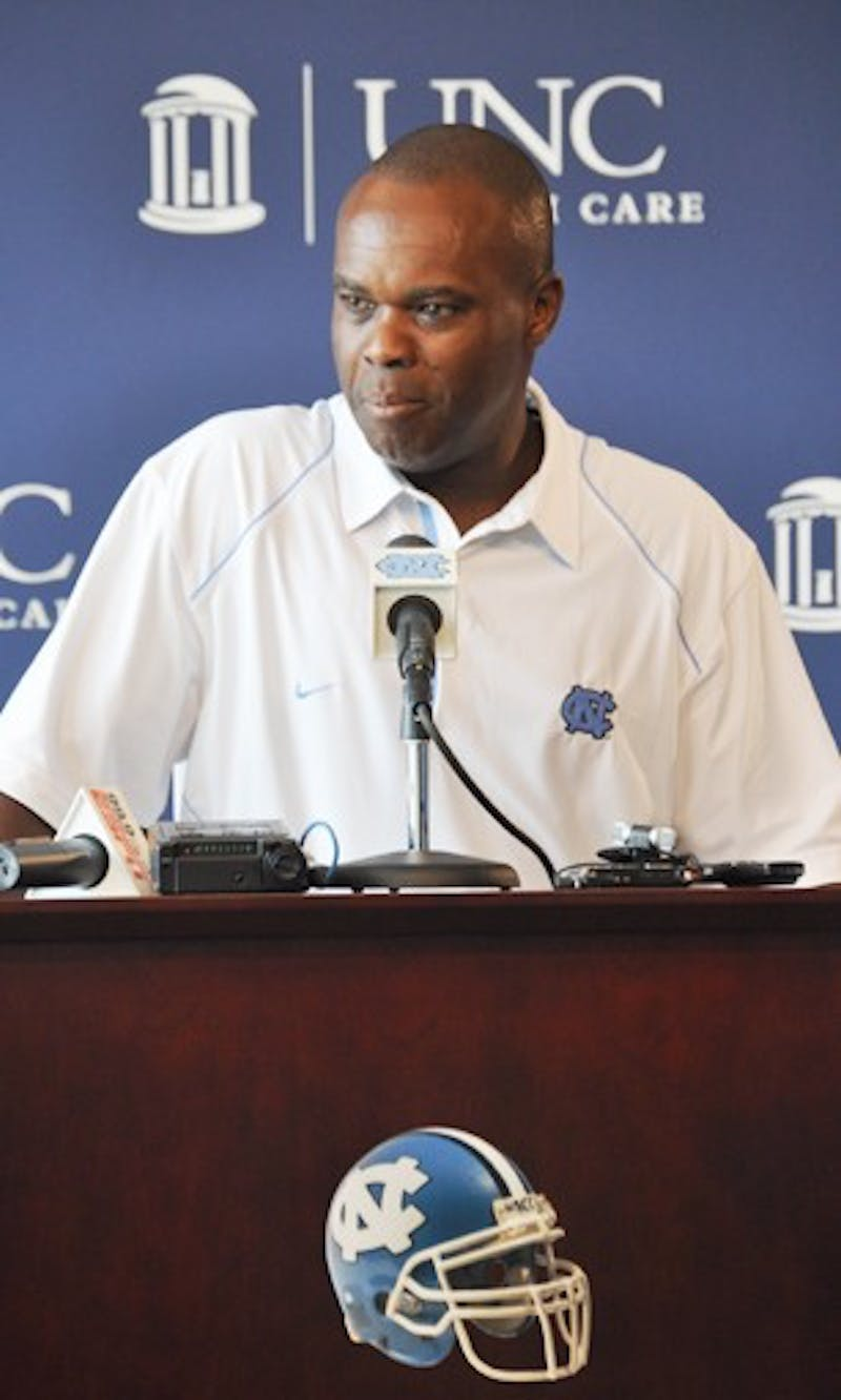 Interim head football coach Everett Withers gave a press conference on Monday to discuss UNC's season opener against JMU.