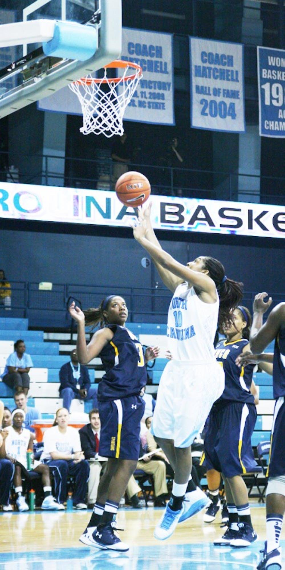 UNC women's basketball helped by depth in UNC-G win