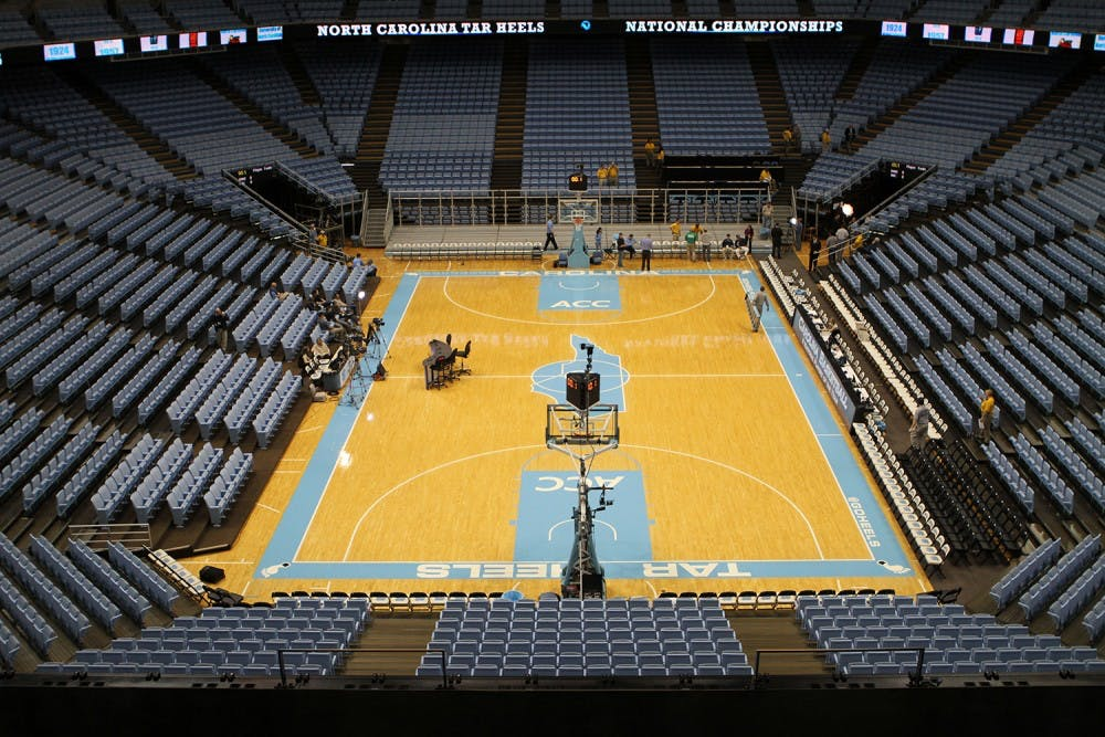 <p>The Smith Center on Saturday, March 9, 2013 after a game against Duke.</p>