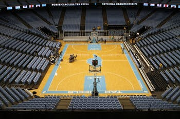 The Smith Center on Saturday, March 9, 2013 after a game against Duke.