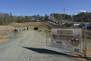 South Green development in Carrboro will be home to new restaurants and retail shops on South Greensboro Street. Construction has yet to begin.