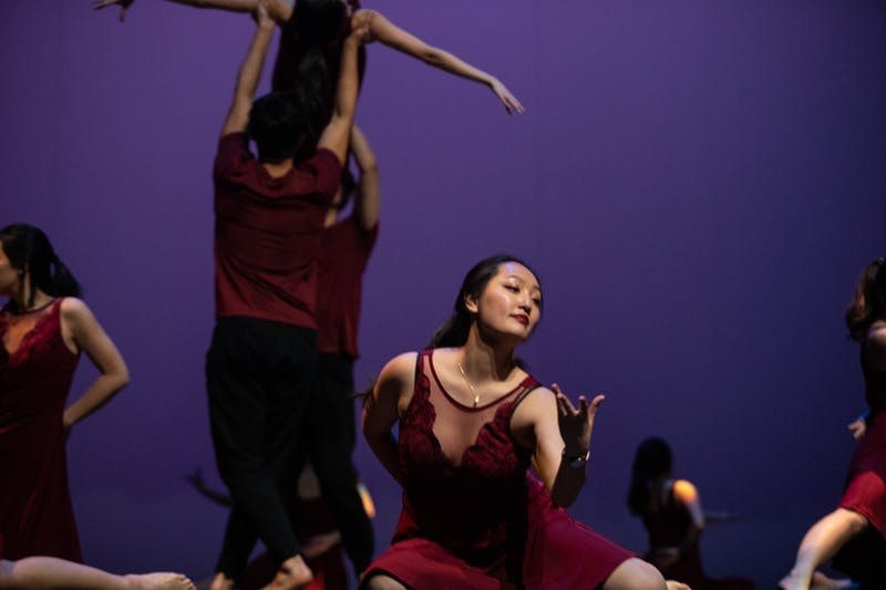 Duke Chinese Dance performs at Journey Into Asia at Memorial Hall on Saturday, Feb. 29, 2020. The group incorporates traditional Chinese dance elements into modern styles.