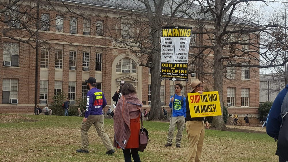 Group demonstrates in the pit for anti-sodomy, anus awareness