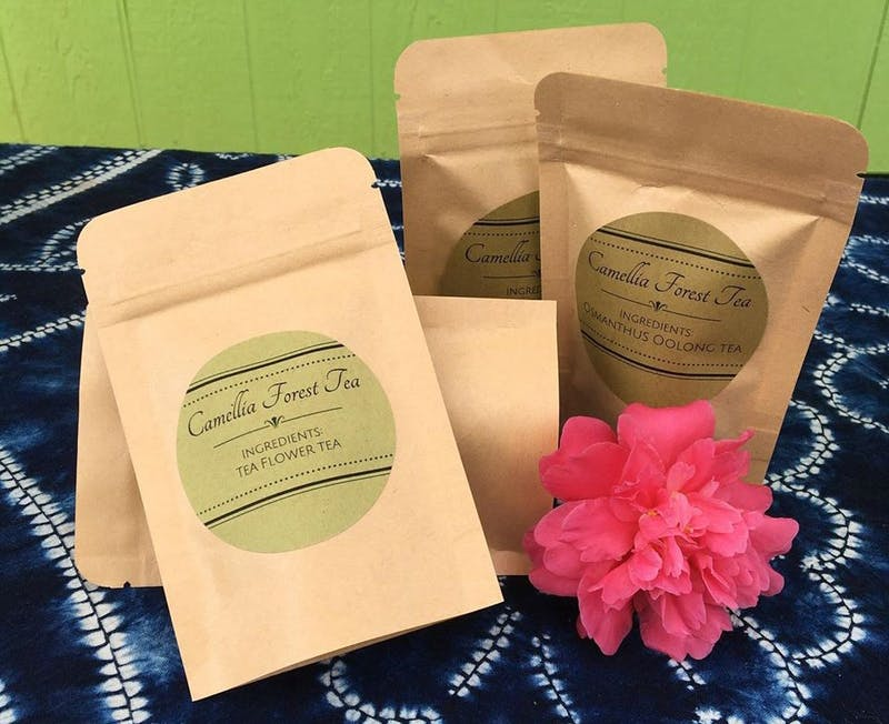 Tea sold by Camellia Forest Tea Gardens. Photo courtesy of Christine Parks.