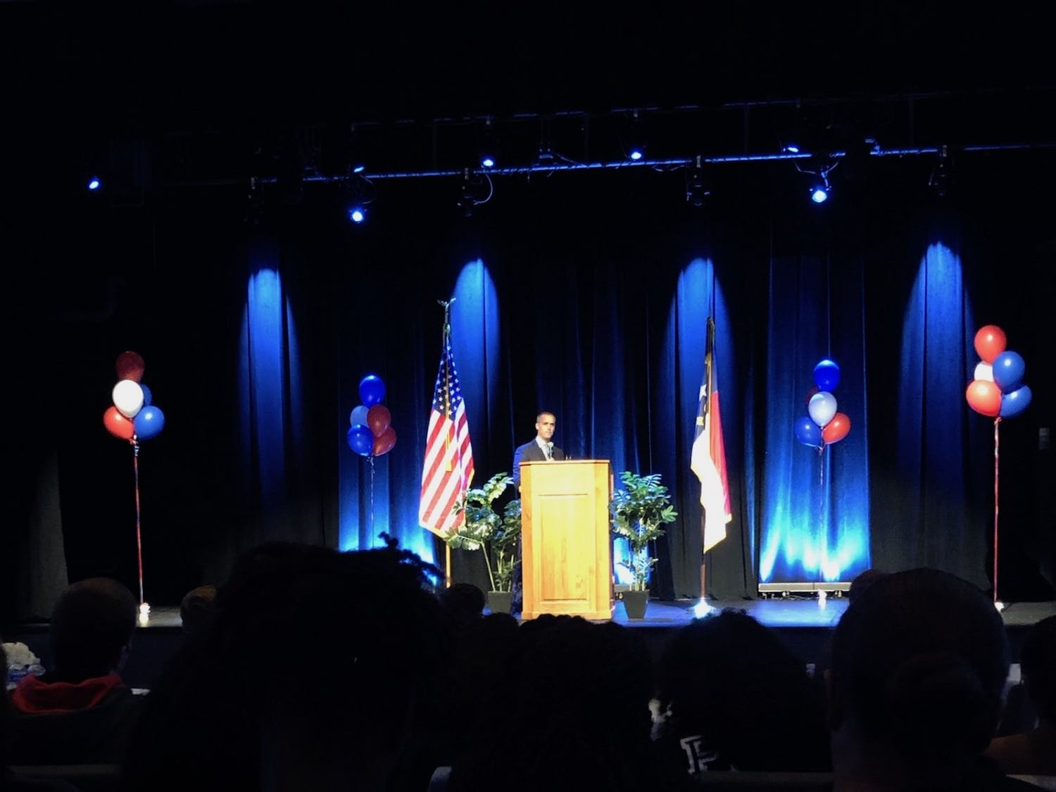 Corey Lewandowski, President Donald Trump's former campaign manager, came to campus to talk on Wednesday, Nov. 20, 2019.