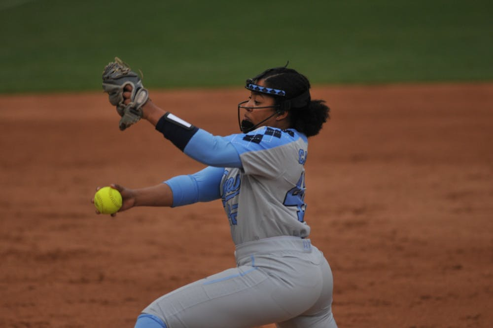 Strong pitching from Hannah George carries UNC softball to series win over Pittsburgh