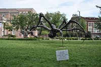 Crouching Spider: A nine-foot-tall, 27-foot-wide sculpture by French-American artist Louise Bourgeois will be on display for a year on East Cameron Avenue.