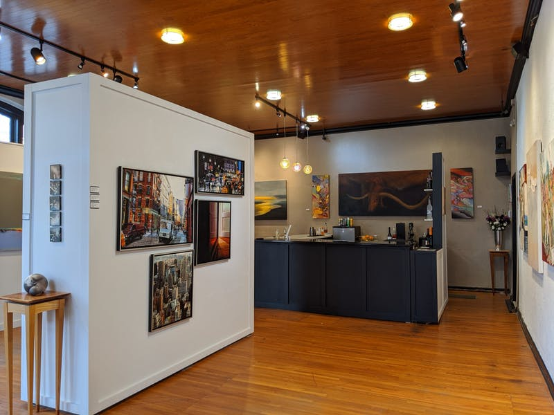 The interior of the Bakova Gallery in Hillsborough. Photo courtesy of Nick Baldridge.