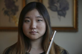 Cecilia Lee is a flautist and student at East Chapel Hill High School. She will perform in Carnegie Hall in February with other students.