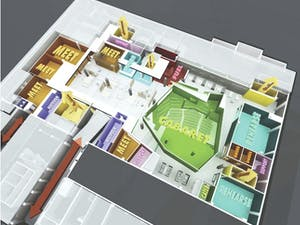 UCOMMONS, a proposed rennovation project for the Student Union includes an all-night ground floor as well as several other updates. Courtesy of Ucommons.