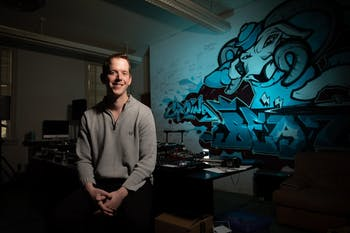 "UNC Media and Journalism Ph.D. candidate Alex 'AK' Kresovich, who produced a song titled ""King of the Clouds"" on Panic! at the Disco's sixth studio album, ""Pray for the Wicked,"" poses for a portrait in the beat making studio in Hill Hall on Wednesday, Jan. 30, 2019 in Chapel Hill, NC. Kresovich, who is interested in the intersectionality between recording artists and mental health, said that he left Los Angeles because pursuing a music producing career full-time wasn't the life he wanted. Despite his decision to leave a full-time music-producing career, Kresovich continues to make beats alongside his studies. ""King of the Clouds"" peaked at number eleven on the Billboard Top 100 list on July 7, 2018."
