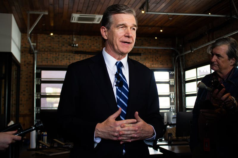 Governor Roy Cooper announced a new economic development plan at Well on W. Franklin Street on Tuesday, Nov. 19, 2019.