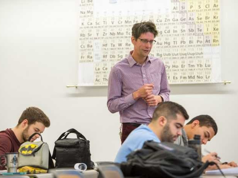 Jeffrey Johnson supervises a class. Photo courtesy of Steve Exum.