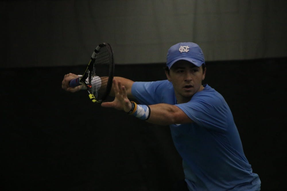UNC men's tennis avoids championship hangover in 7-0 win against Wofford